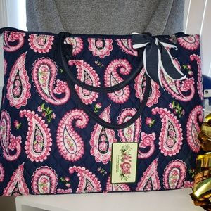 Quilted Paisley Tote Bag